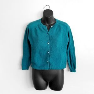 MARC BY MARC JACOBS Turquoise Textured Cardigan